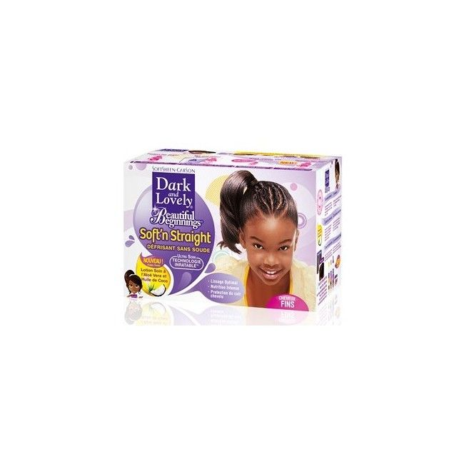 Dark and lovely Beautiful Beginnings KIT Défrisage sans soude cheveux Fins