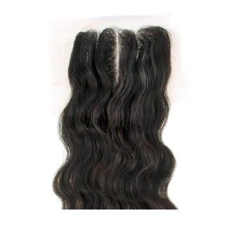 "Top Closure Silk Top  4x4 Body Wave 14"" Remy Hair Mileva Hair"