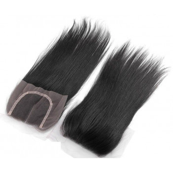 """Top Closure 4x4 raide 18"""" Remy Hair Mileva Hair"""