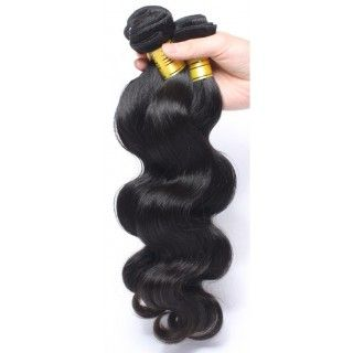 Extension Brésilienne Body Wave à clip 55cm Couleur 1B - 100g