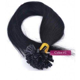 Janet Collection Noir Havana - Mambo Twist crochet  60cm