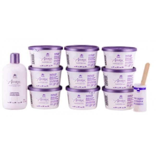 Affirm Sensitive relaxer kit 9 applications