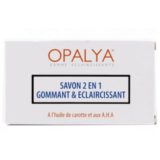 2 en 1  Scrubbing & Lightening Soap  Opalya