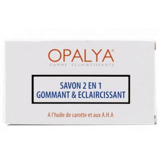 Savon 2 en 1 Gommant & Eclaircissant  Opalya