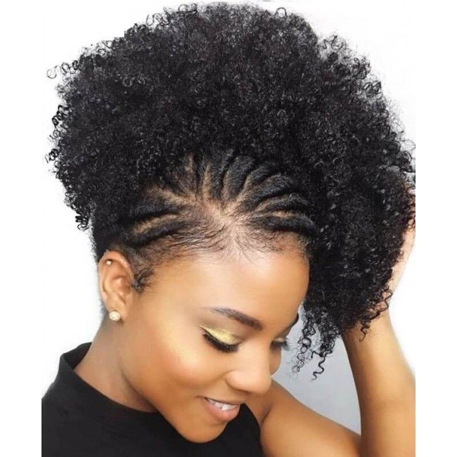 Ponytail Afro Kinky Curl