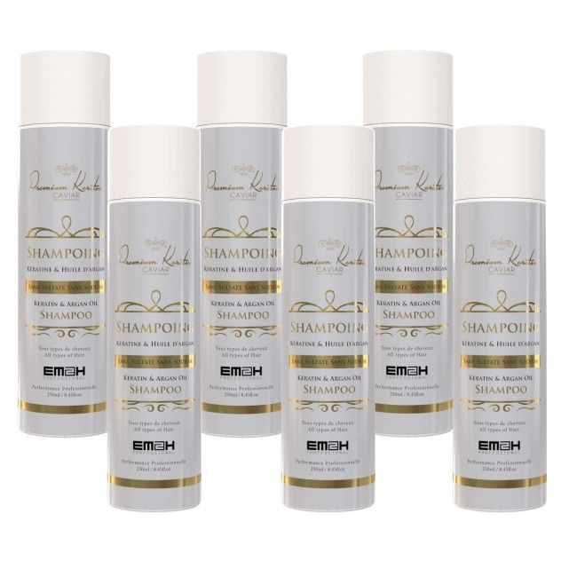 Premium Keratin Caviar Sulfate free Shampoo 6-Pack