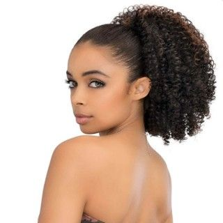 Postiche Kinky Curl 100% cheveux humain