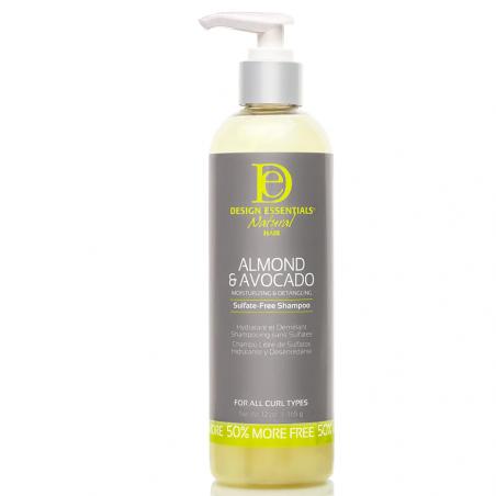 Design Essentials Natural Almond & Avocado Moisturizing & Detangling Sulfate-Free Shampoo