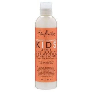 Shea Moisture Coconut & Hibiscus Kids 2 in 1 Curl & Shine shampoo & conditioner