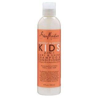 Shea Moisture Coconut & Hibiscus Kids 2 in 1 Curl & Shine shampoo & conditioner