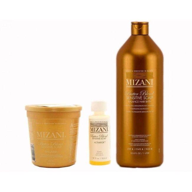 Mizani sensitive scalp relaxer 1 application /neutralisant