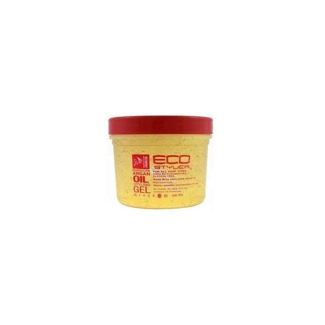 Gel de fixation et de coiffage à l'huile d'Argan sans alcool Eco Styler Argan 473ml