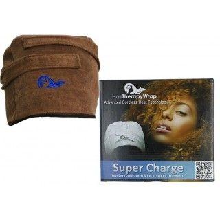 Hair Therapy Wrap Bonnet chauffant sans fil couleur brune